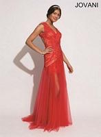 Jovani 73262 Open Back Formal Dress image