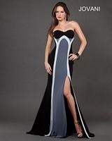 Jovani 73452 Color Block Formal Dress image