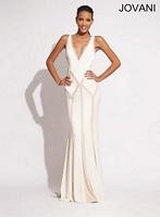 Jovani 73459 Ruffle Trim Jersey Evening Dress image