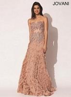 Jovani 73518 Beaded Corset Formal Dress image