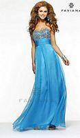 Faviana 7363 Sequin and Chiffon Evening Dress image