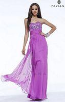 Faviana 7364 Sequin Top Evening Dress image