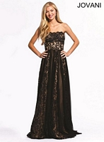 Jovani 73946 Lace Sheer Gown image