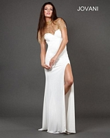 Jovani 73992 Draped Jersey  Formal Dress image