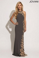 Jovani 74004 Sexy Cut Out Jersey Gown image