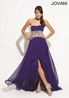Jovani 74114 Jewel Chiffon Evening Dress image