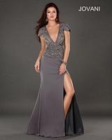 Jovani 74166 Cap Sleeve Evening Dress image