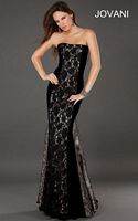 Jovani 74205 Formal Dress with Lace Overlay image