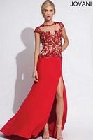 Jovani 74236 Jersey A-Line Formal Dress image