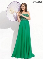 Jovani 74244 Gown with Layered Skirt image