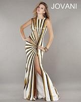 Jovani 743 Jersey Cut Out Formal Dress image