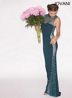 Jovani 74421 Jersey Gown with Illusion image