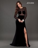 Jovani 74422 Sexy Sheer Formal Dress image