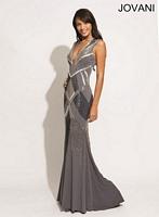 Jovani 74443 Plunging Neck Mermaid Dress image