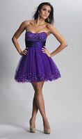 Dave and Johnny 7485 Short Beaded Party Dress image