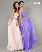 Jovani 7485 Beaded Waist Jersey Gown image