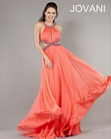 Jovani 7506 Beaded Jersey Formal Dress image