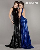 Jovani Open Back Long Beaded Gown 7530 image
