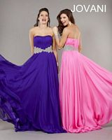 Jovani Strapless Empire Jersey Gown 7563 image