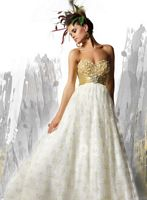 2e4602e3092 Ballgowns by MacDuggal Prom Dress with Gold Flowers 75868H