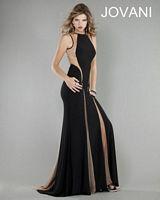 Jovani Formal Dress 762 with Sheer Panels image
