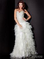 Jovani Evening Dress with Ruffle Layered Skirt 7710 image