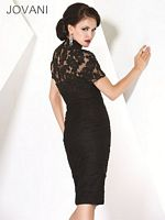 Jovani Evenings Black Lace Mother of the Bride Dress 7722 image