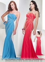 Riva Designs Strapless Prom Dress with Beaded Design 7732 image