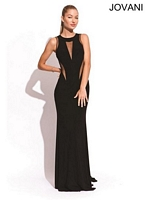 Jovani 77542 Formal Dress with Sheer Cut Outs image