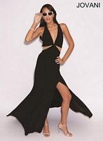 Jovani 77557 Jersey Cut Out Formal Dress image