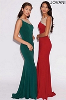 Jovani 77578 Jersey Sheer Cut Out Gown image