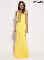 Jovani 77652 Sleeveless Jersey Formal Dress image