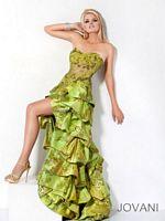 Jovani Floral Print Ruffled High Low Dress 7772 image