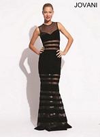 Jovani 77738 Sleeveless Velvet Formal Dress image