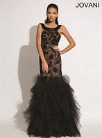 Jovani 77757 Lace and Tulle Mermaid Dress image