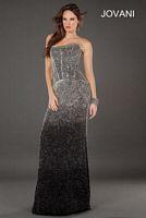 Jovani 77758 Ombre Beaded Evening Dress image