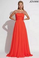 Jovani 78022 Ruched Chiffon Formal Dress image