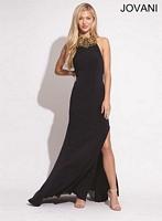 Jovani 78158 Backless Jersey Formal Dress image