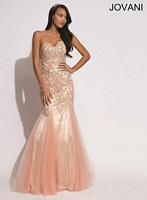 Jovani 78171 Beaded Print Formal Dress image