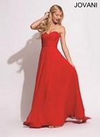 Jovani 78219 Ruched Chiffon Evening Dress image