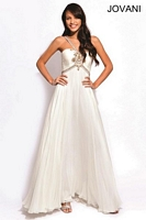 Jovani 78226 Beaded Ruched Chiffon Gown image