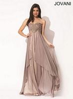 Jovani 78232 Beaded Chiffon Formal Dress image