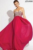 Jovani 78248 Empire Jersey Formal Dress image