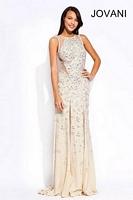 Jovani 78264 Sexy Long Dress with Sheer Panels image