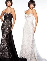 MacDuggal Prom Velvet and Lace Evening Dress 78439M image