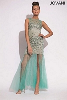 Jovani 78482 Formal Dress with Sheer Skirt image