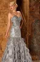 MacDuggal Couture Pageant Gown with Stone Bust 78554D image