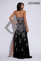 Jovani 78647 Fitted Velvet Formal Dress image