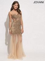 Jovani 78654 Backless Formal Dress image