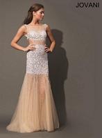 Jovani 78657 Backless Tulle Evening Dress image